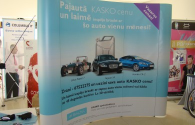 Balta kasko Pop Up 3x3